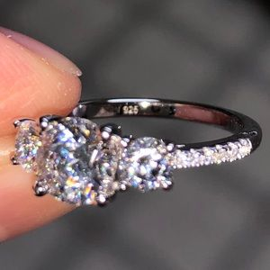 Jewelry - Never worn 3 stone CZ ring